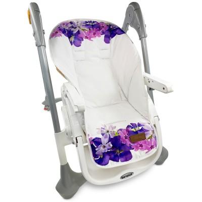 """Чехол на стульчик для кормления принт """"Violet Flowers"""""""