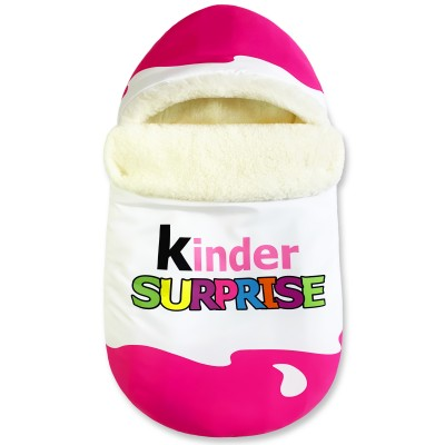 "Конверт ""Kinder Surprise"" Pink Classic Меховой Зима"