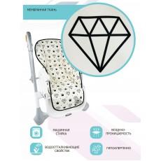 """Чехол на стульчик для кормления принт """"Diamonds and Crowns"""""""