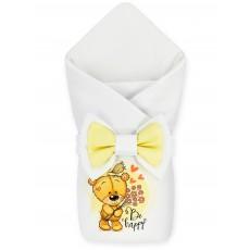 "Конверт-одеяло принт ""Be Happy"" Teddy & Bird Бязь Деми"