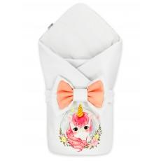 "Конверт-одеяло принт ""Pinky Unicorn"" Бязь Деми"