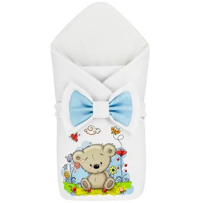 "Конверт-одеяло принт ""Bear & Ants"" Бязь Лето"