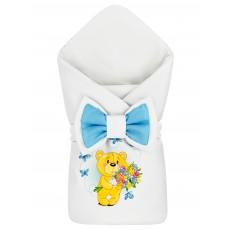 "Конверт-одеяло принт ""Bear & Blue Butterflies"" Бязь Деми"