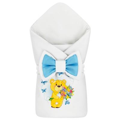 "Конверт-одеяло принт ""Bear & Blue Butterflies"" Бязь Лето"